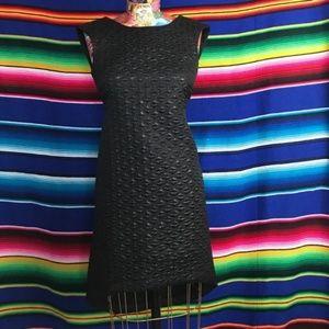 Asos Petite Jacquard Metallic Hi Lo Dress Texture